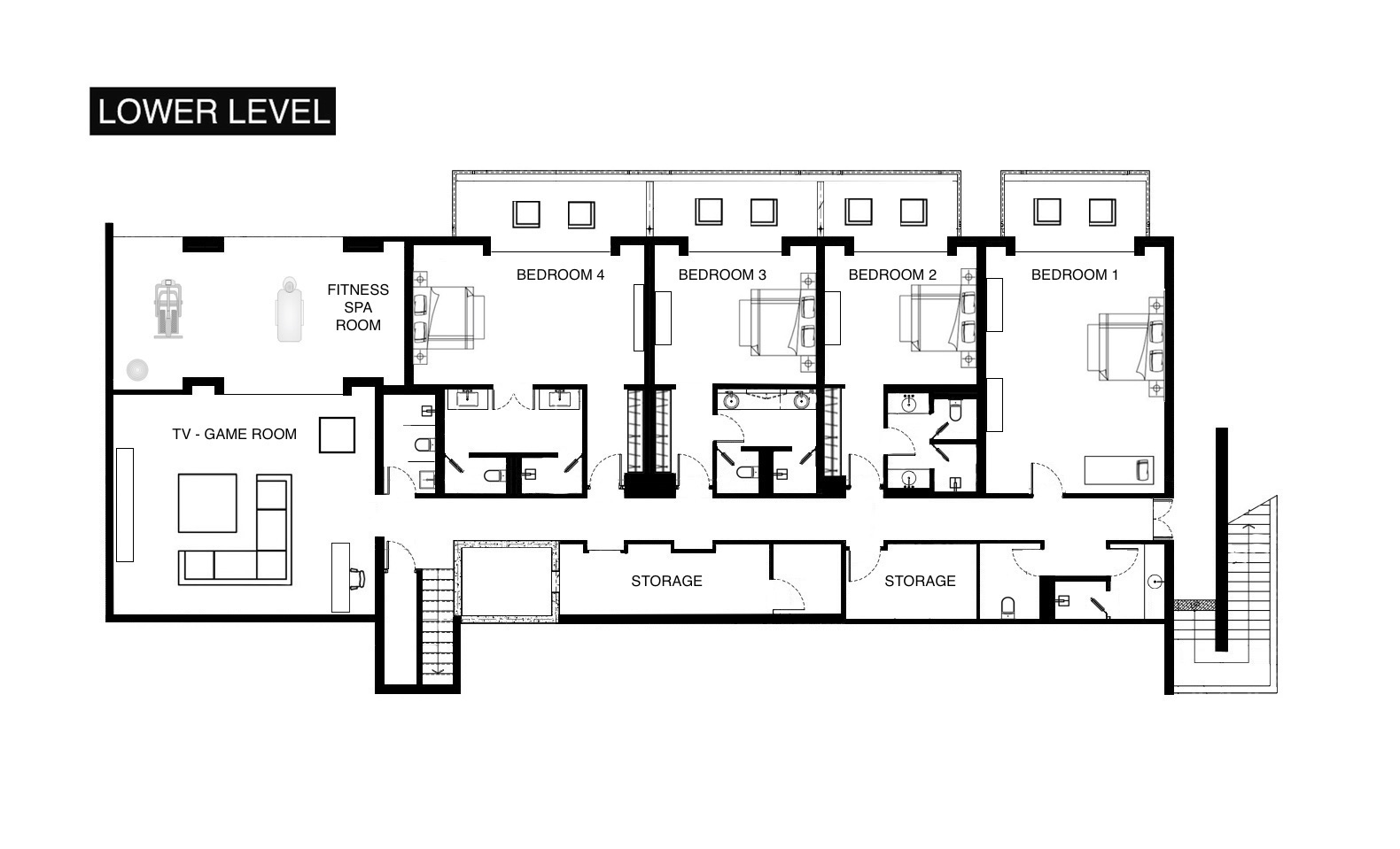 Floor plans villa paradiso phuket for Villa floor plans